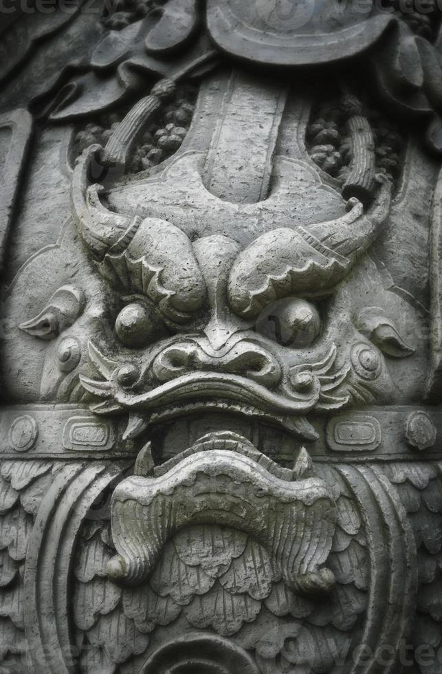 Dragon face statue photo