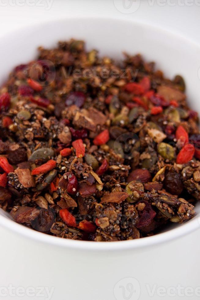 nueces y semillas de granola foto
