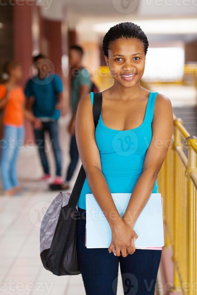 chica universitaria afroamericana foto