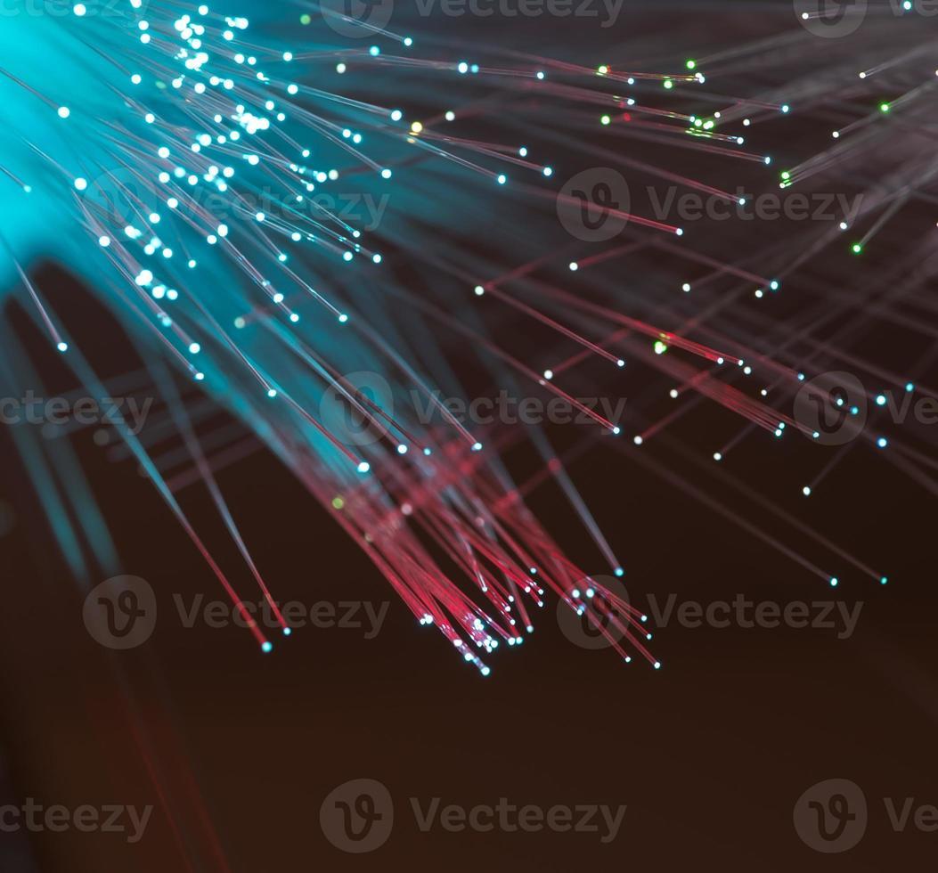cavi in fibra ottica foto
