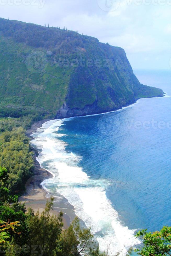 hermoso paisaje natural de hawaii foto