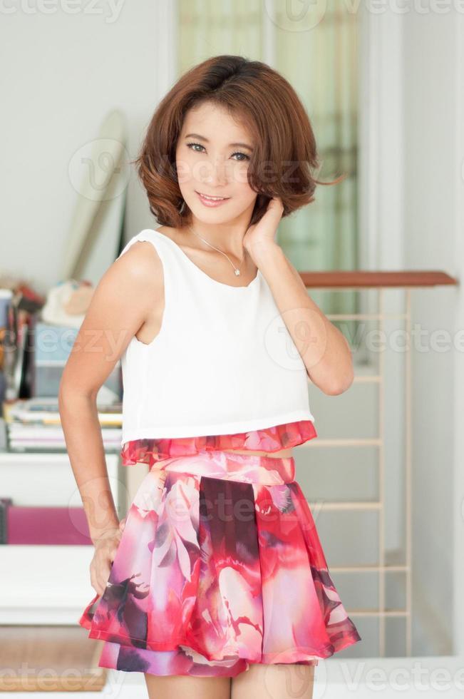 Retrato hermosa chica asiática foto