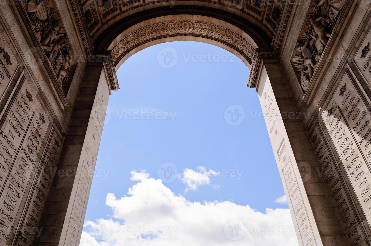Arco de triunfo, París foto