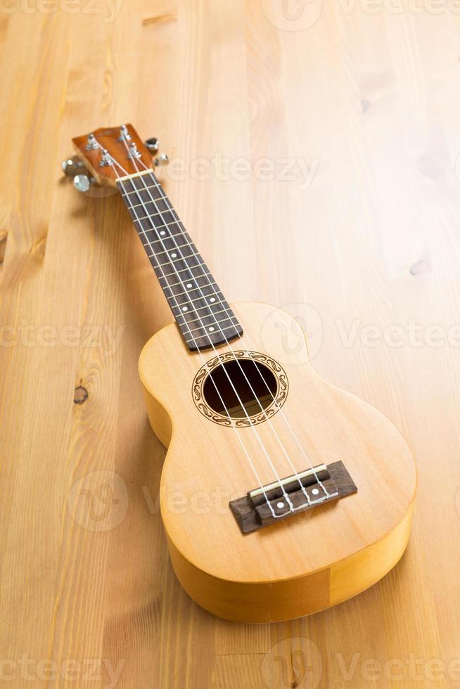 Wooden ukulele photo