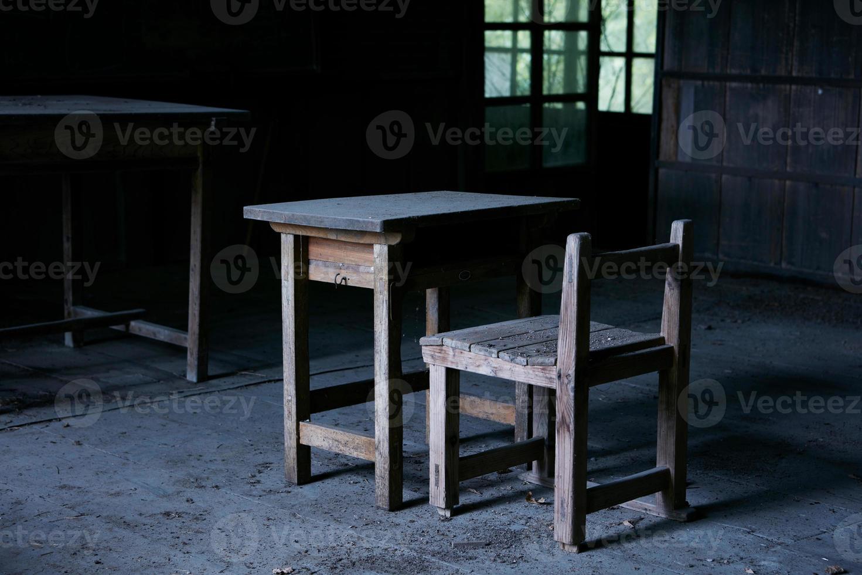 escuela abandonada de madera foto