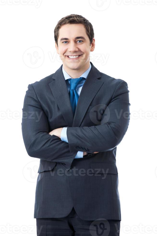 empresario, aislado en blanco foto