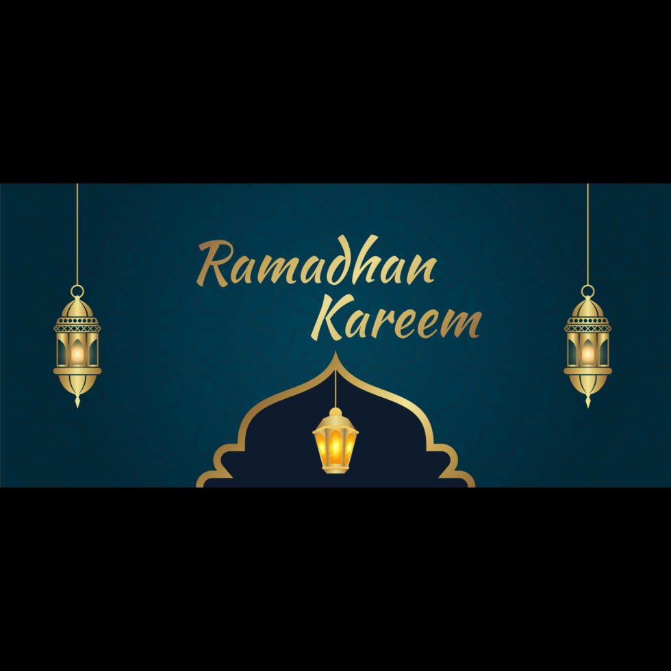 cartes de voeux lanterne dorée pour ramadan vecteur
