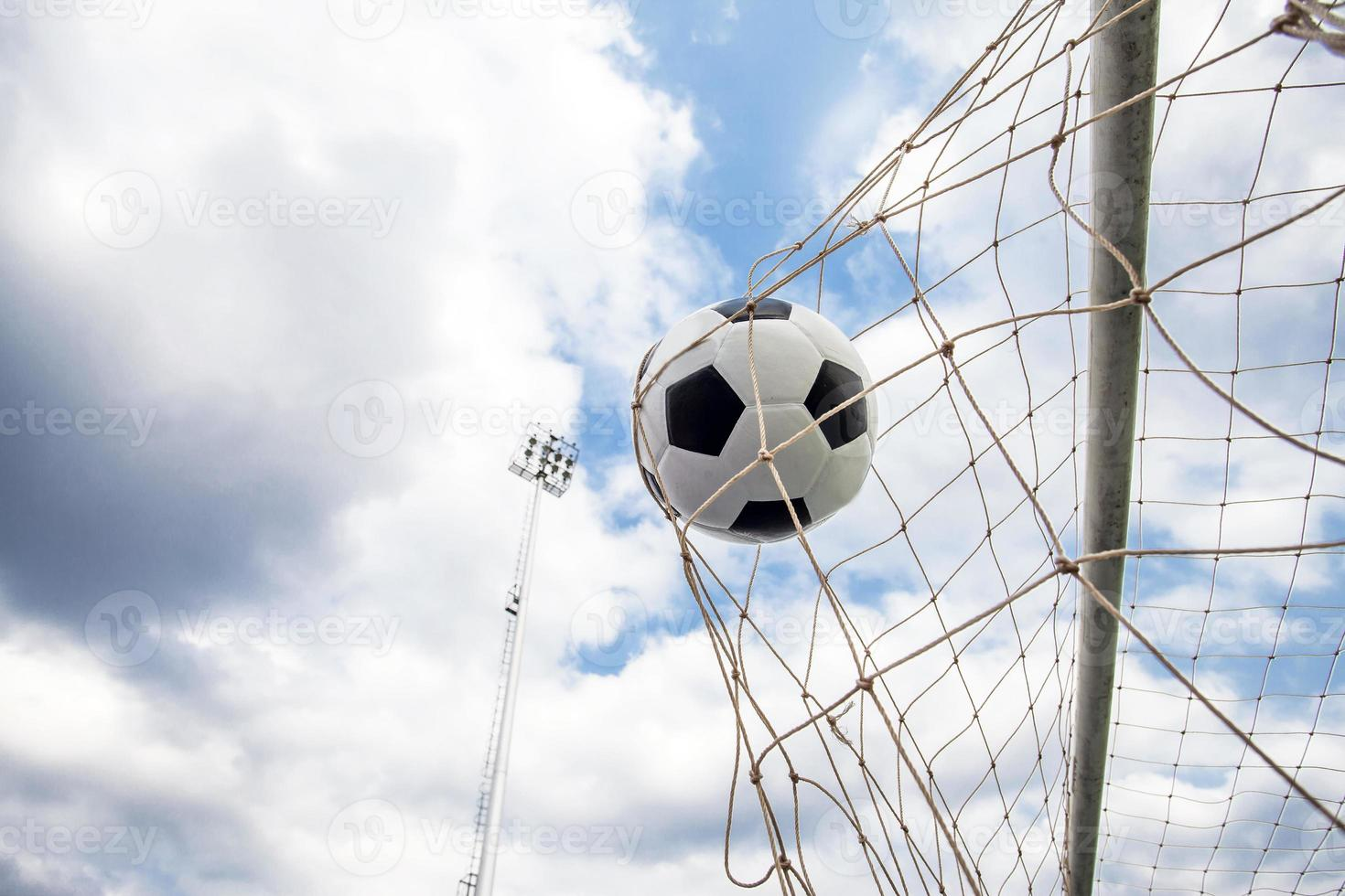 portería de fútbol soccer foto