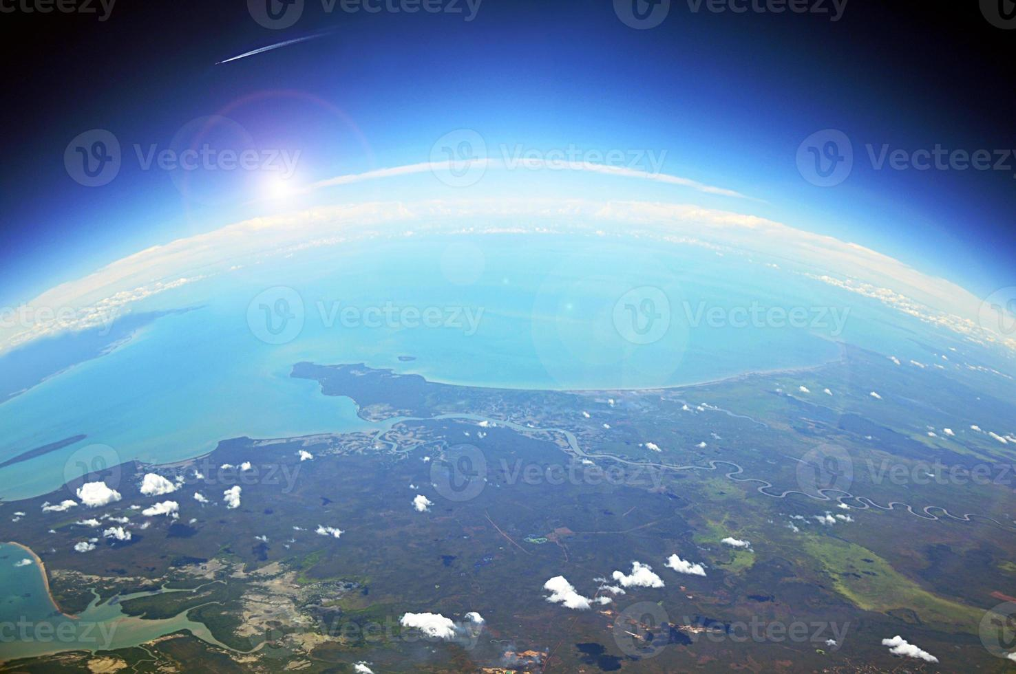 Aerial view of the earth photo