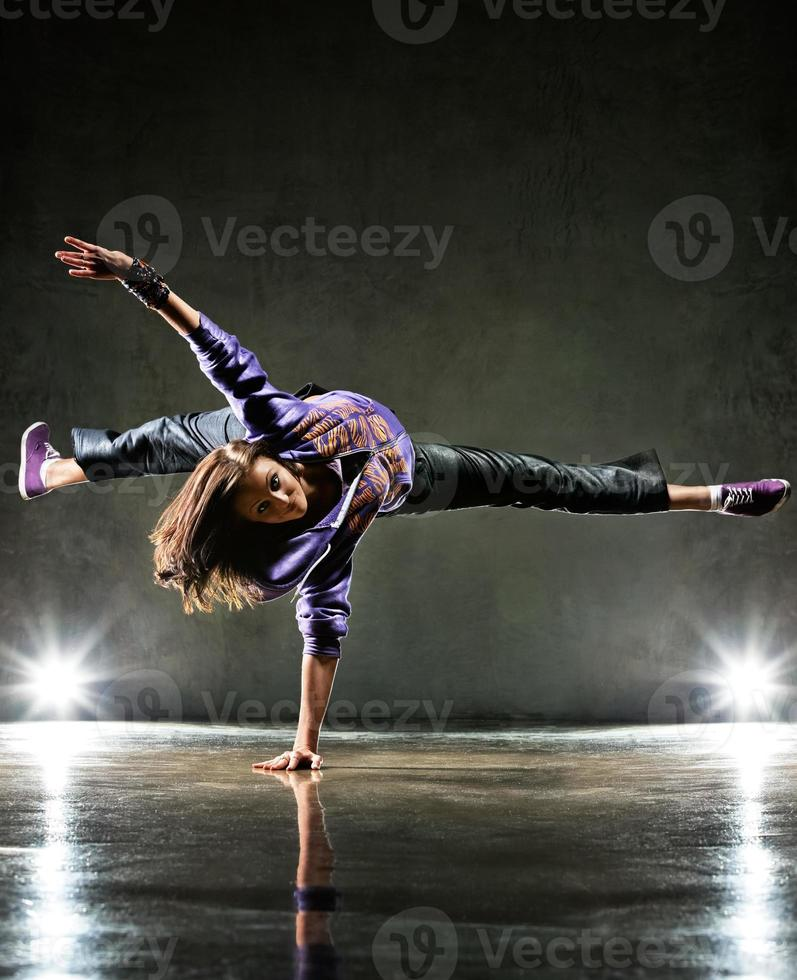 Young woman dancer photo