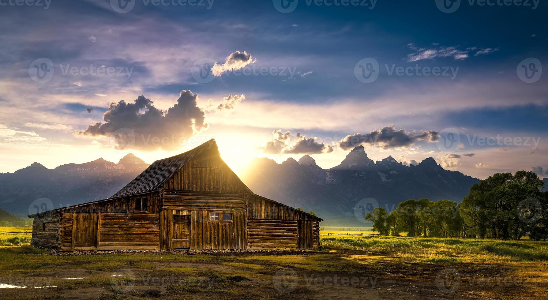T.A. Moulton Barn After the Storm photo