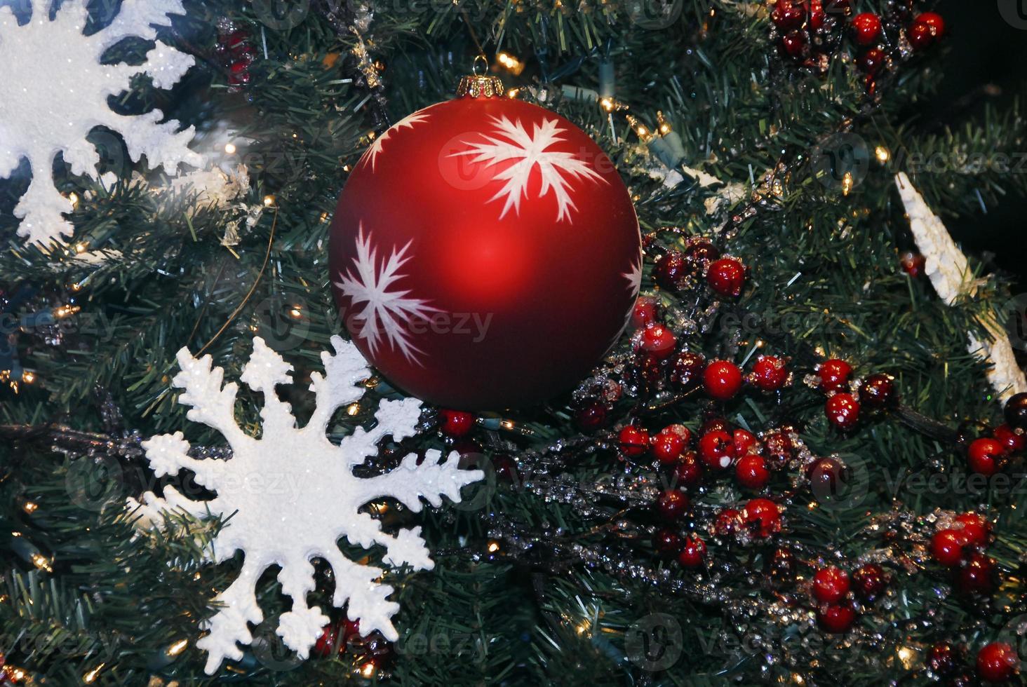 Christmas Decoration Textured Baubles photo