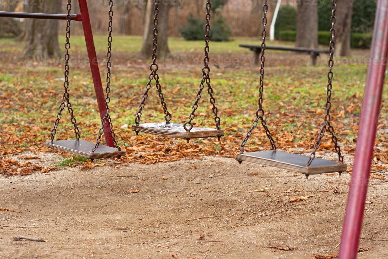 playground and swings photo