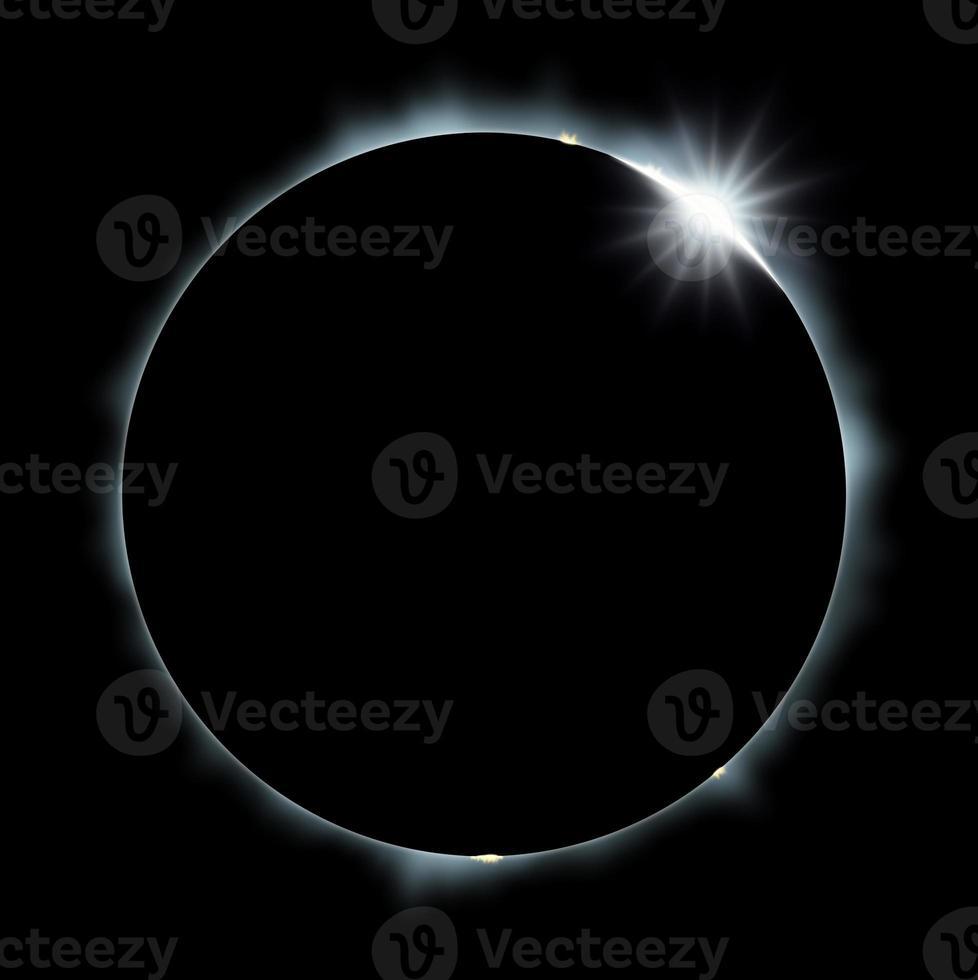 eclipse de sol completo foto
