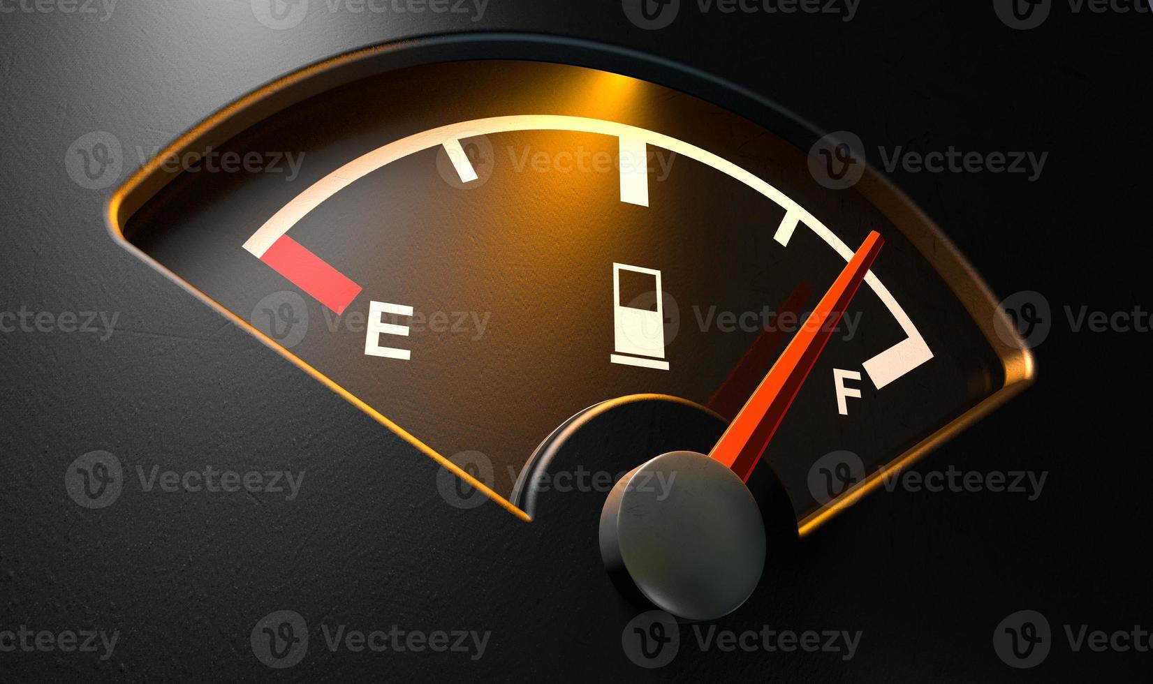 medidor de gas iluminado por completo foto