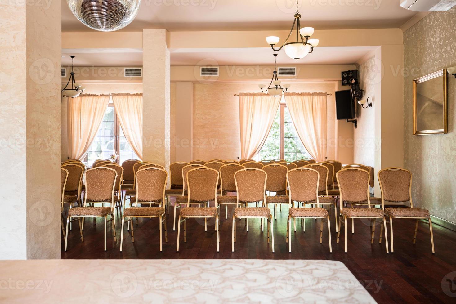 Elegant conference hall photo