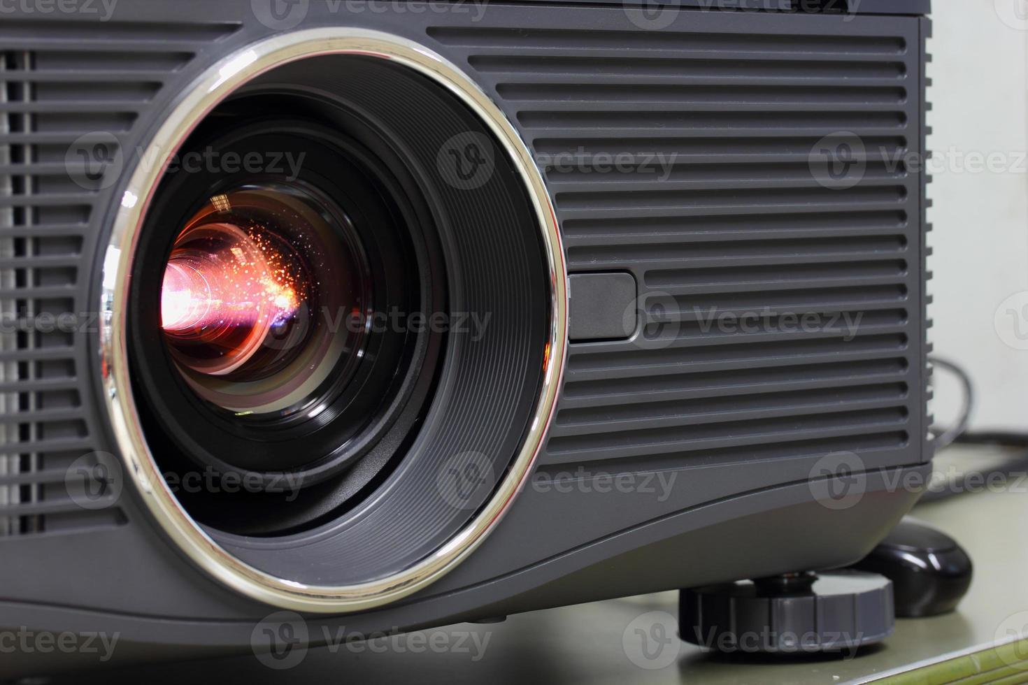 Light lens projector close photo
