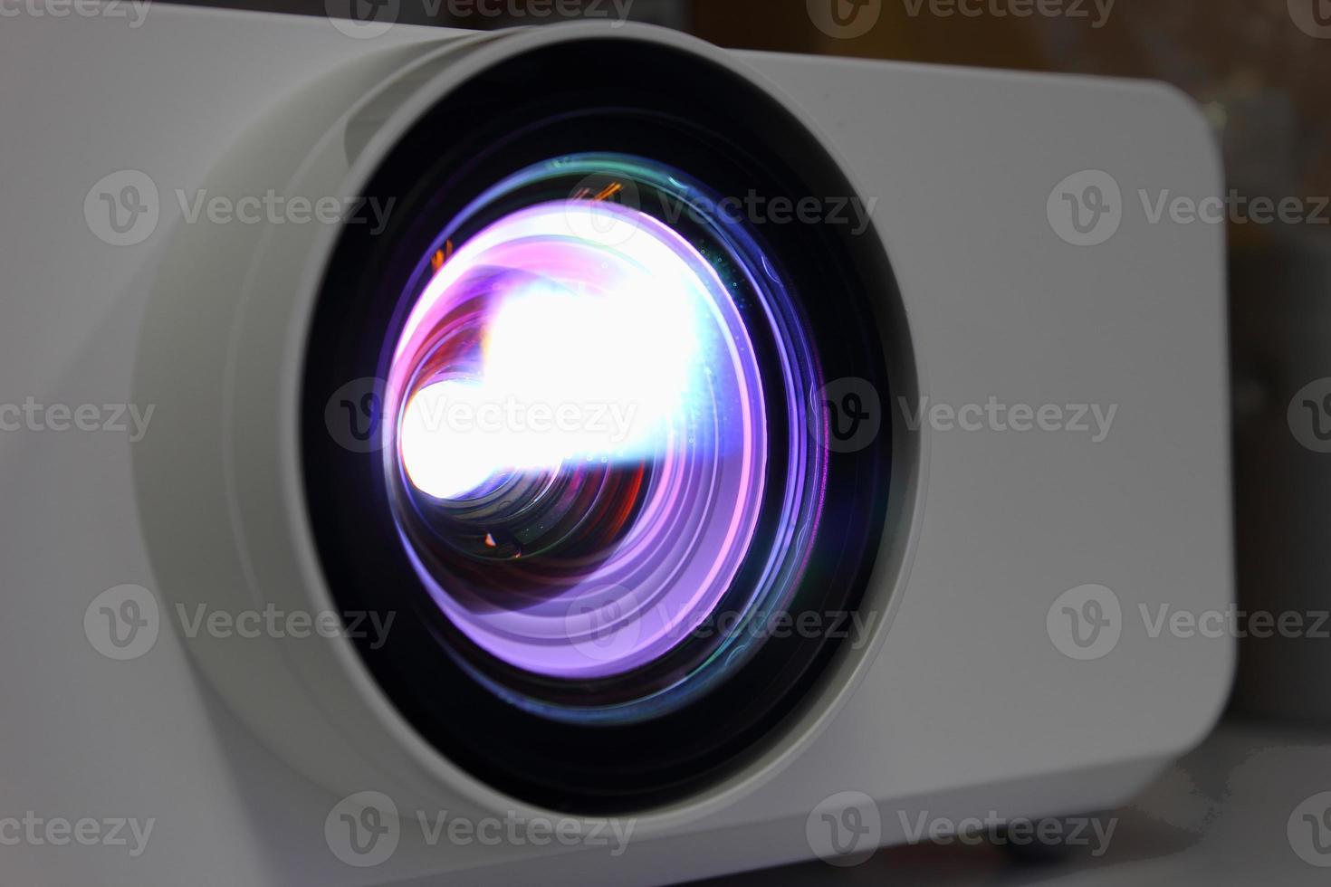 Light projector lens close photo