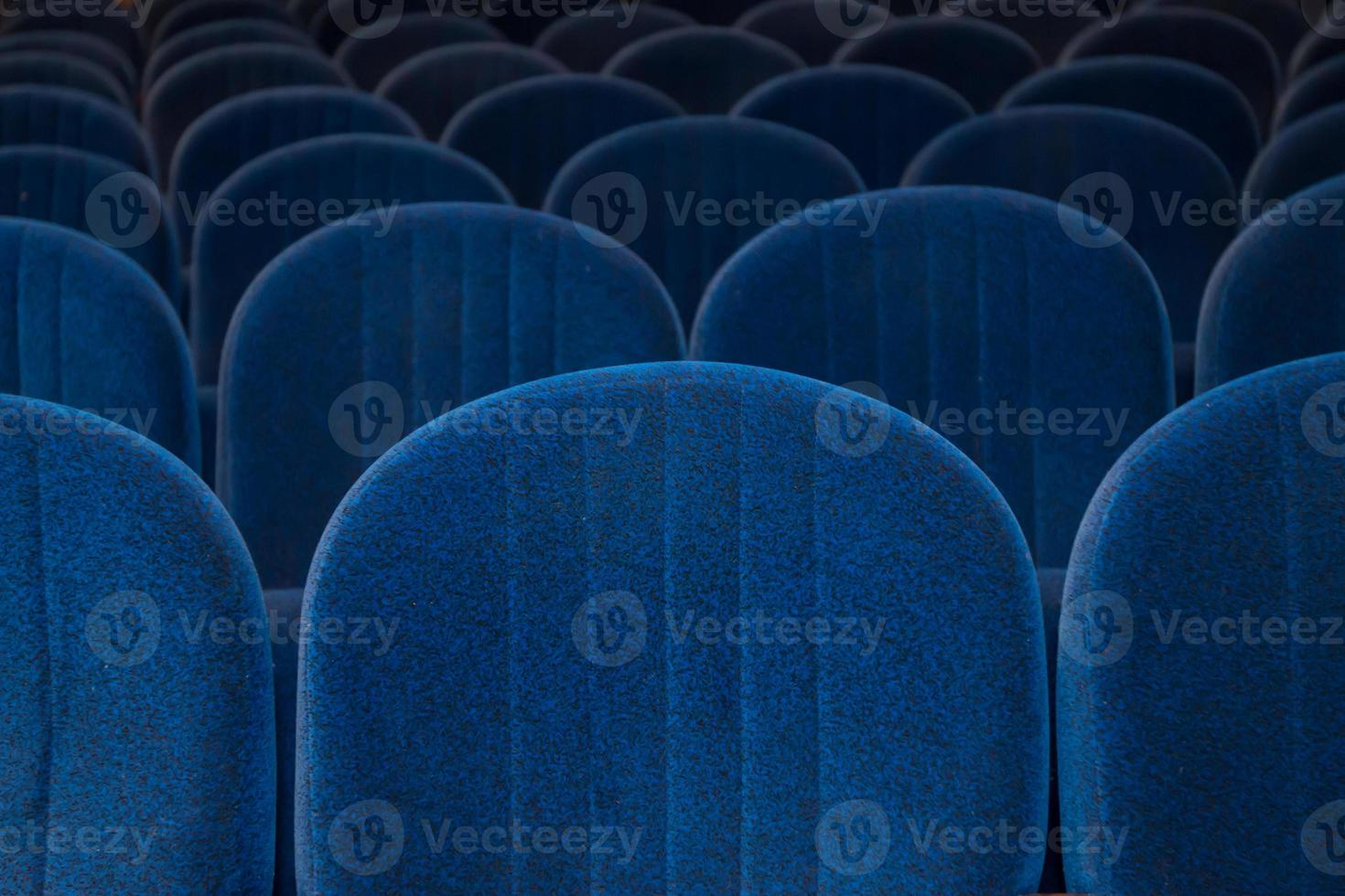 empty blue cinema or theater seats photo