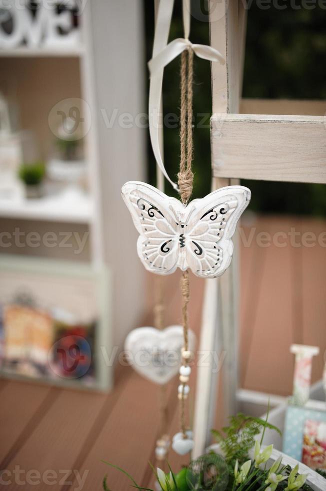 mariposa de la decoración de la boda foto