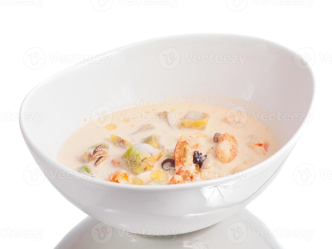 Seafood soup closeup Stock Photo
