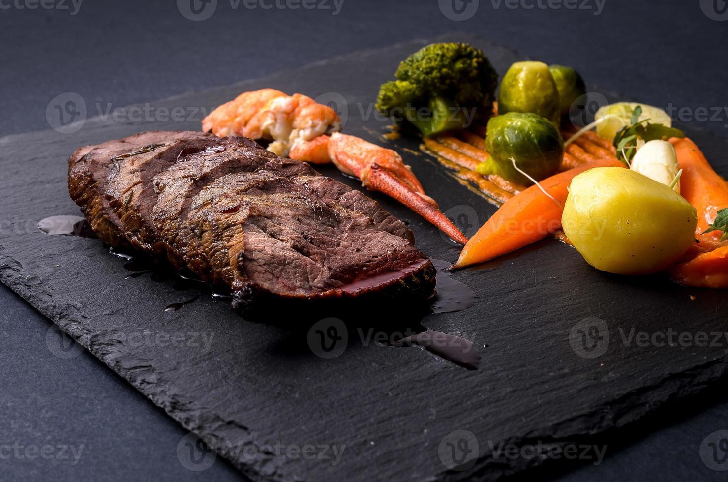 ternera con verduras foto