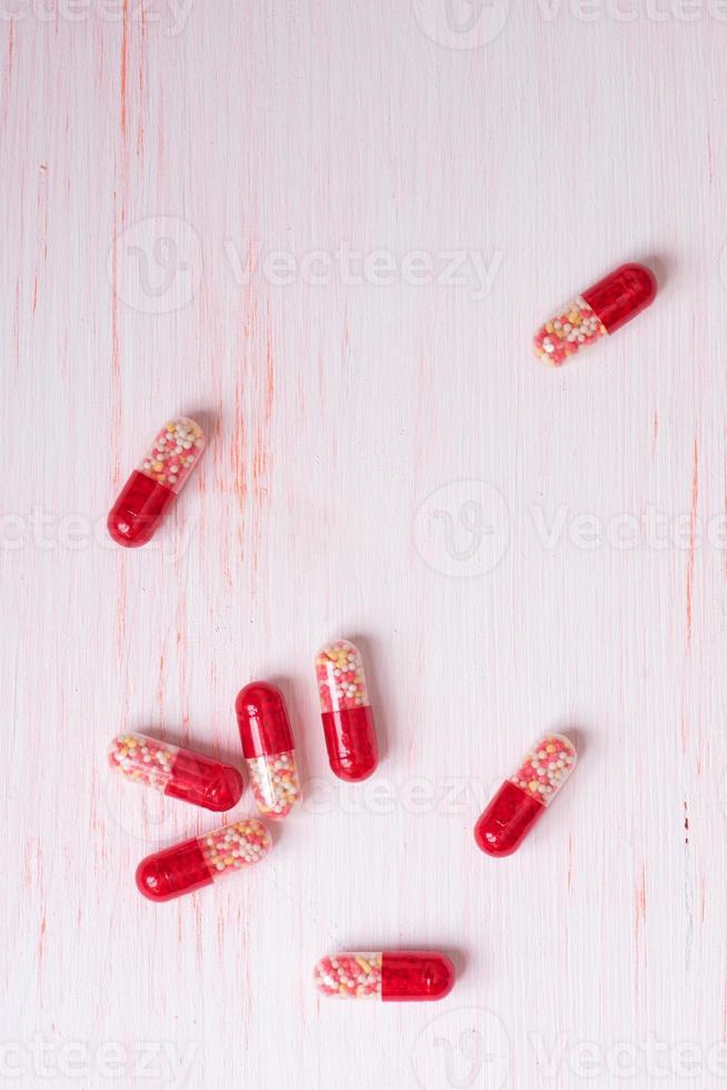pastillas rojas foto