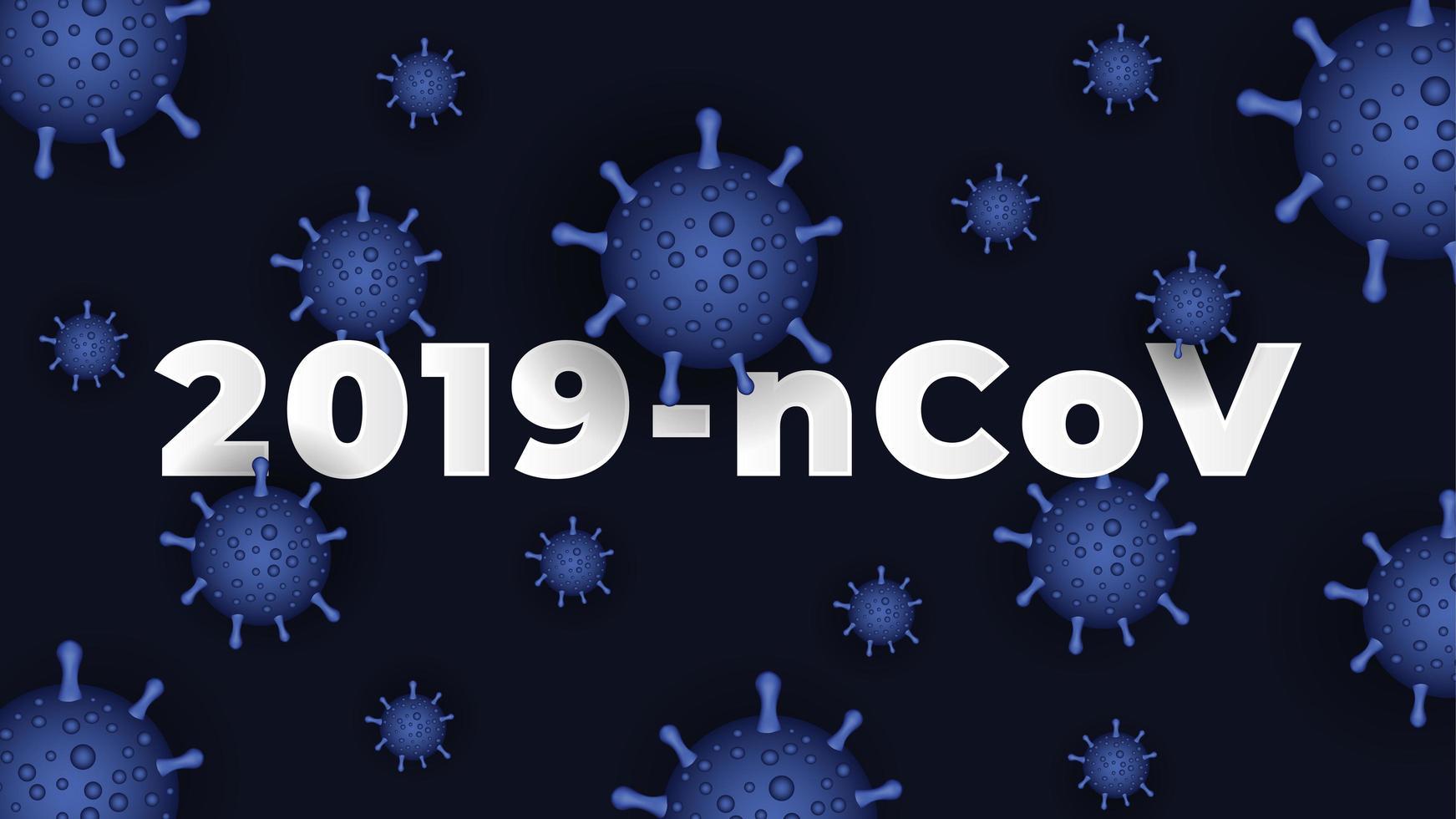 sfondo blu coronavirus covid-19 vettore