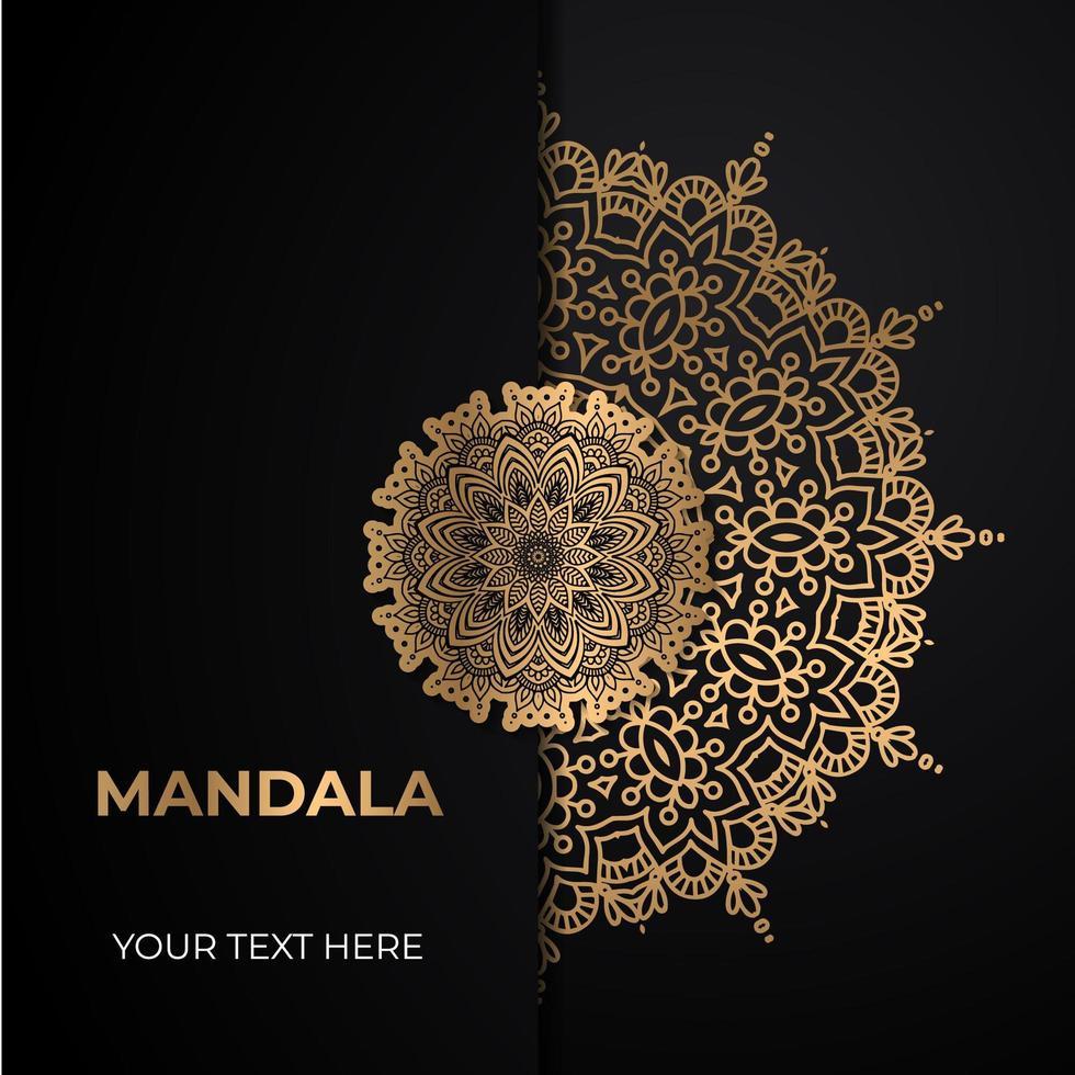 diseño de mandala adornado de oro vector