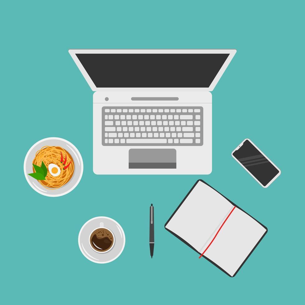 espacio de trabajo para empleado independiente en casa vector