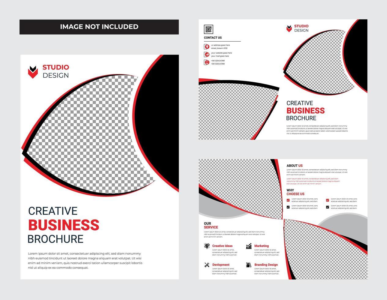 conjunto de design de modelo de panfleto de negócios limpo branco vetor