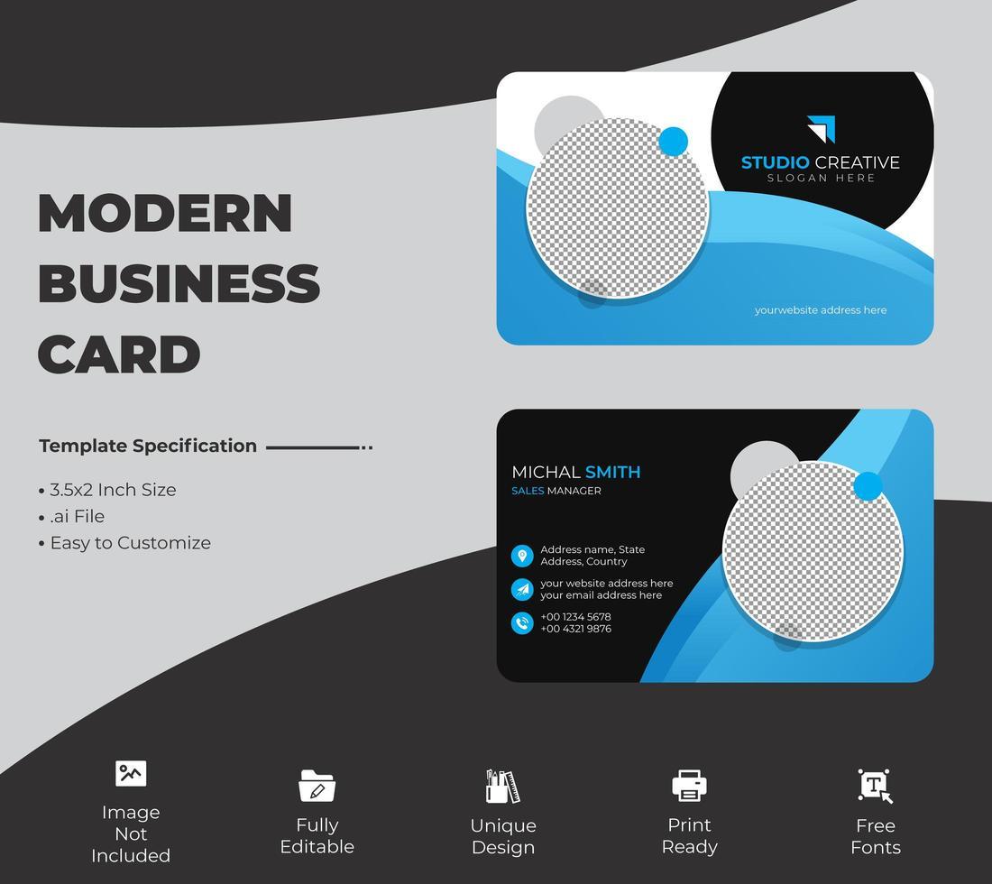 modelo de cartão de visita moderno vetor