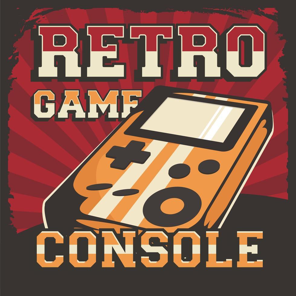 Cartel de señalización de consola de videojuegos retro vector