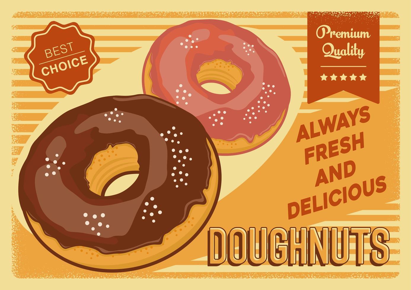 premiumkvalitet donuts skylt affisch vektor