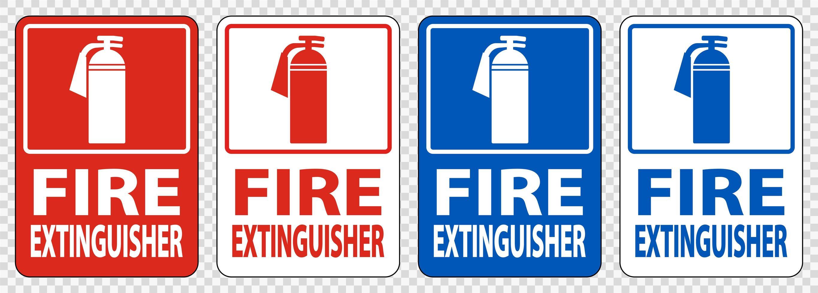 Fire Extinguisher Sign Symbol Set  vector