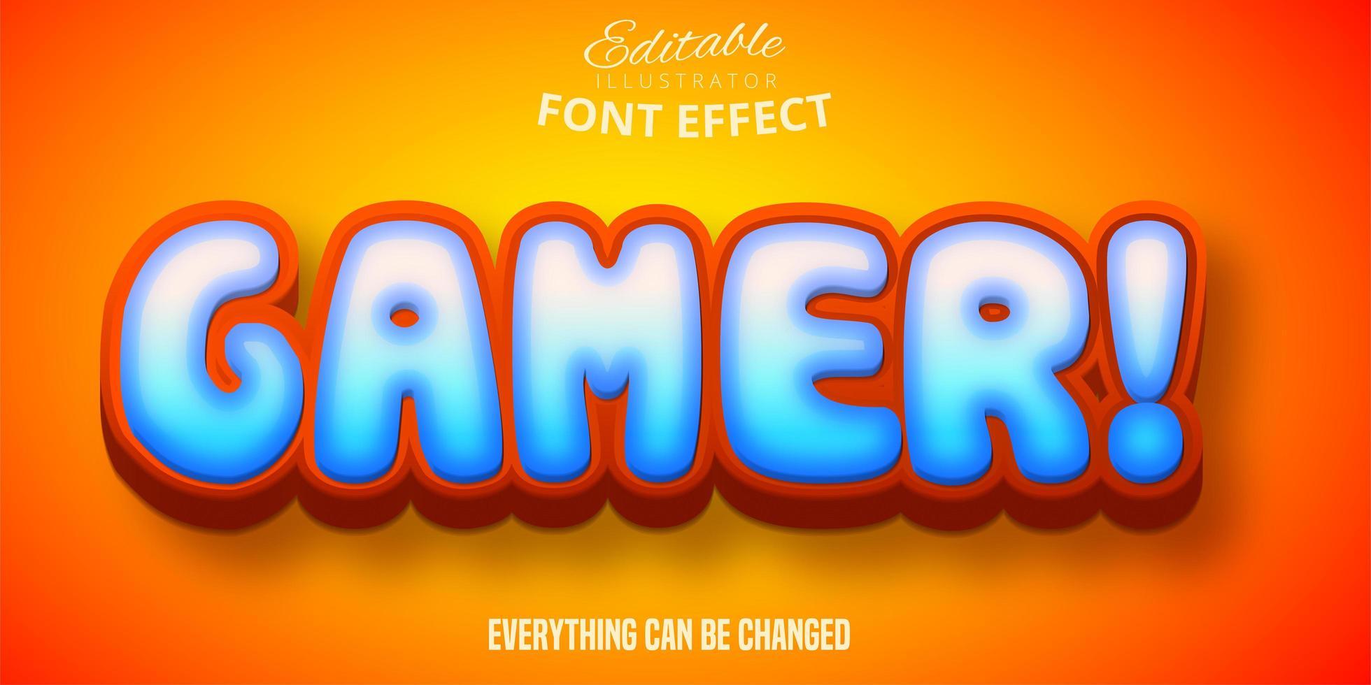 efecto de texto de jugador vector