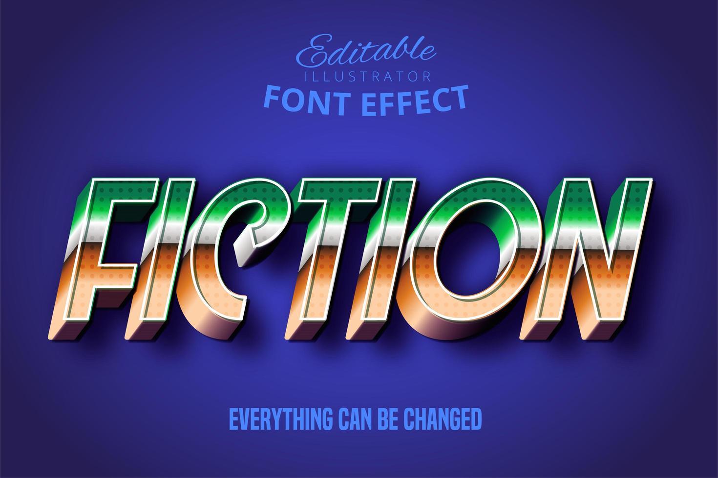 Bold Script Retro Text Font Effect  vector