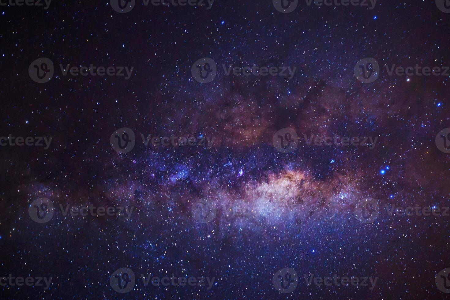 Milky Way.  Long exposure photograph photo