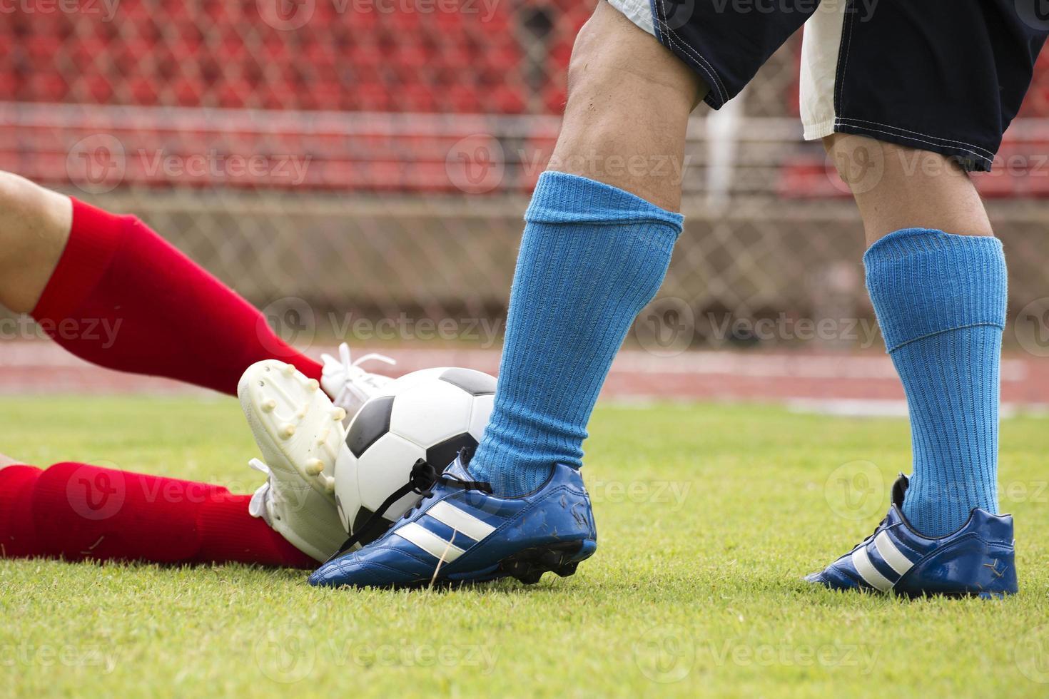 jugador de fútbol atacado foto