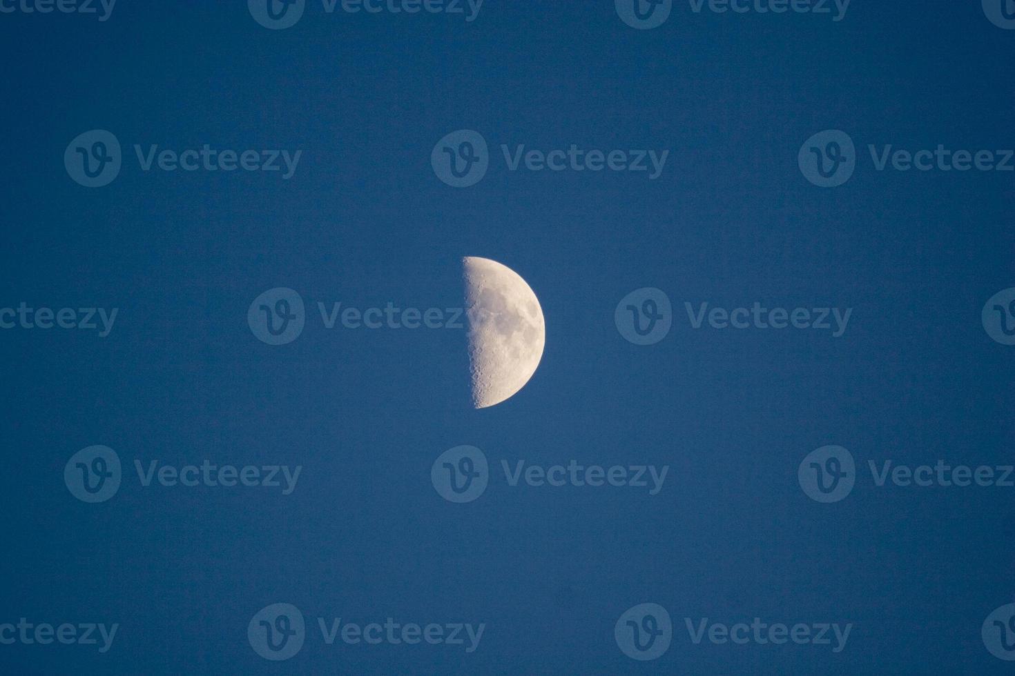Half moon on the night sky photo