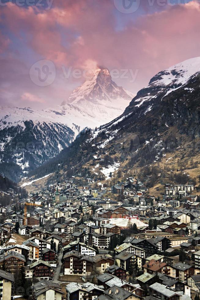 zermatt and matterhorn photo
