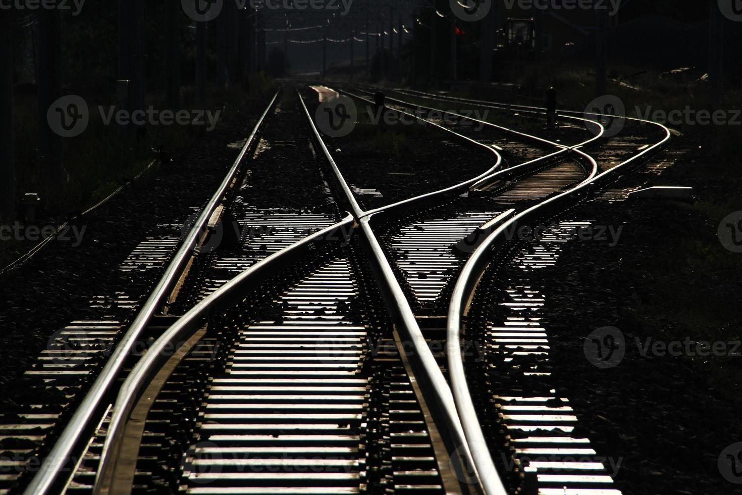 cruce de línea de tren foto