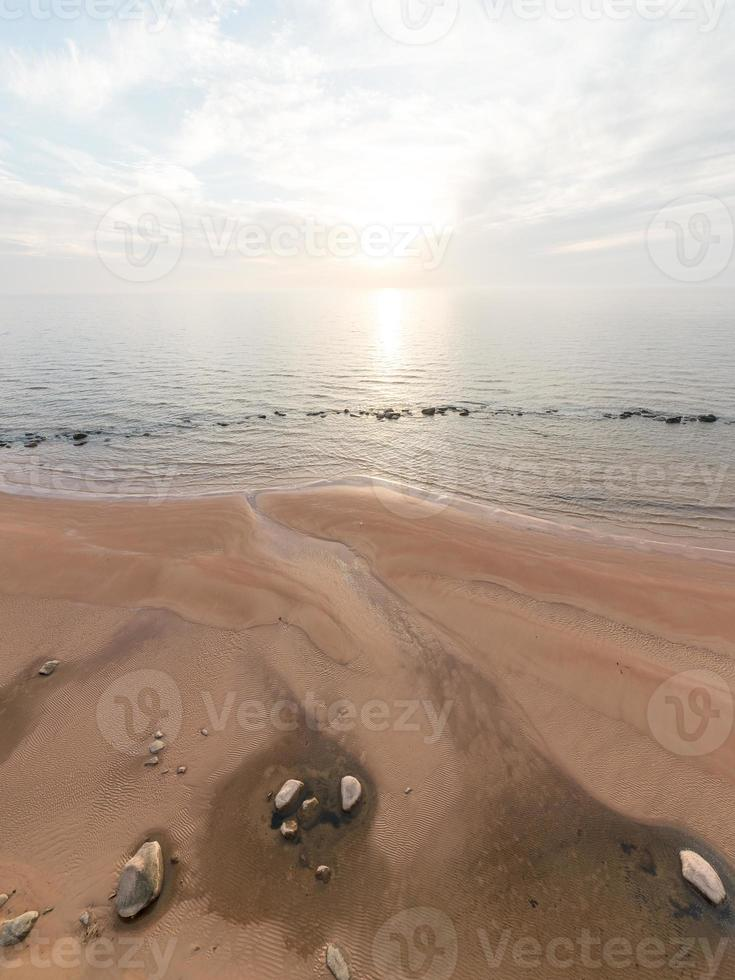 aerial view to the Shoreline of Baltic sea beach photo
