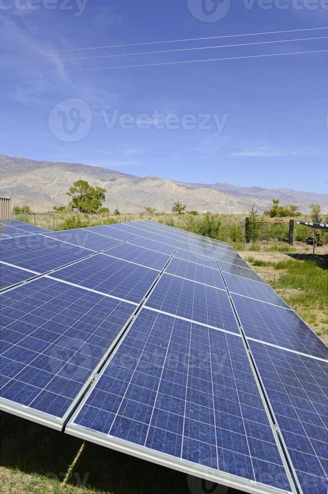 Solar Panels - residential setting in sunny desert environment photo