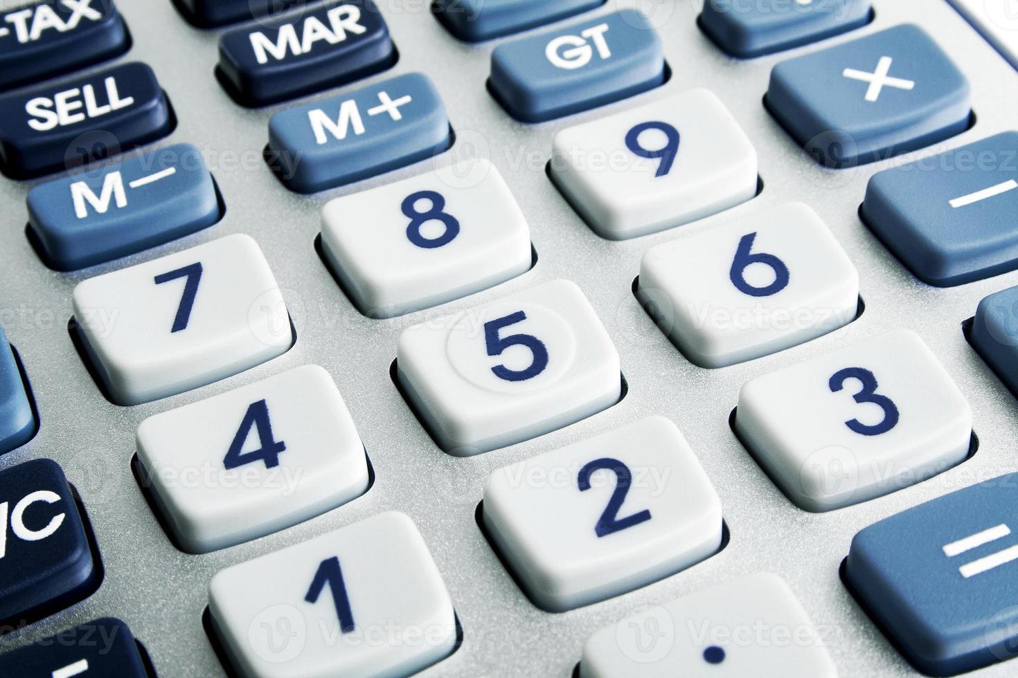 Closeup image of calculator keyboard photo