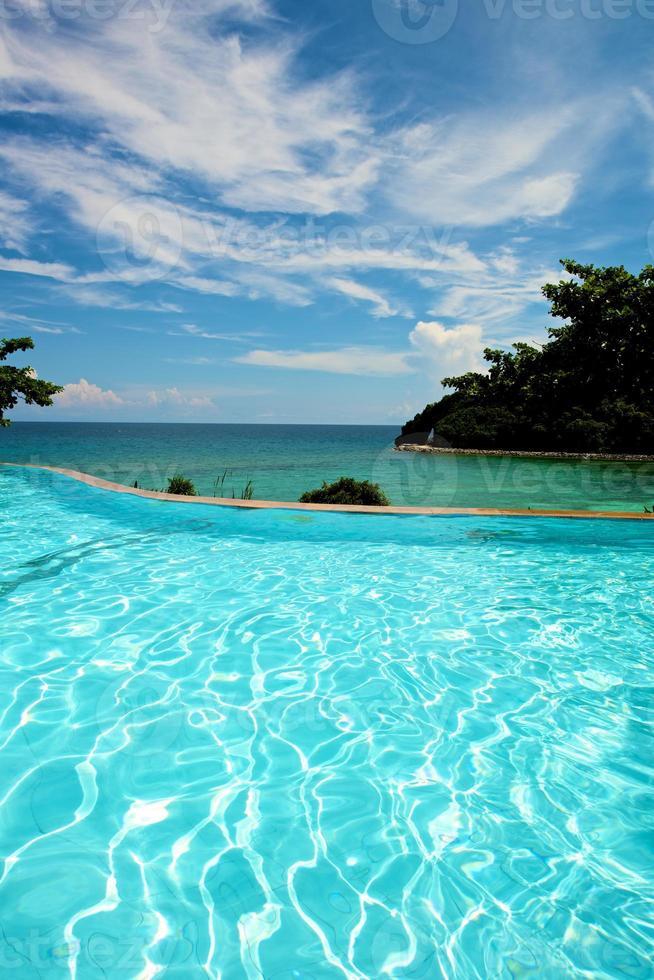 Infinity pool vacation on Boracay resort photo