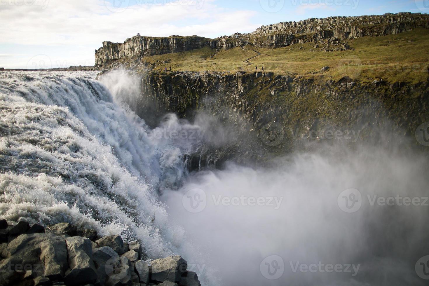 Icelandic dettifoss waterfall photo