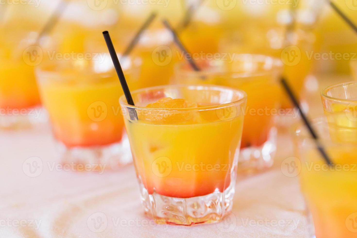Raw of drinks photo