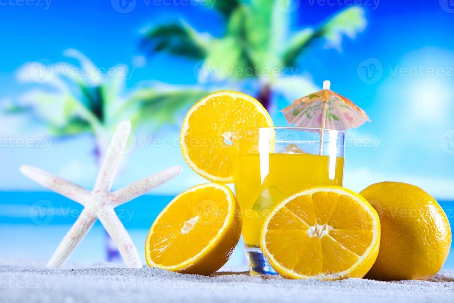 bebida de cóctel de naranja foto