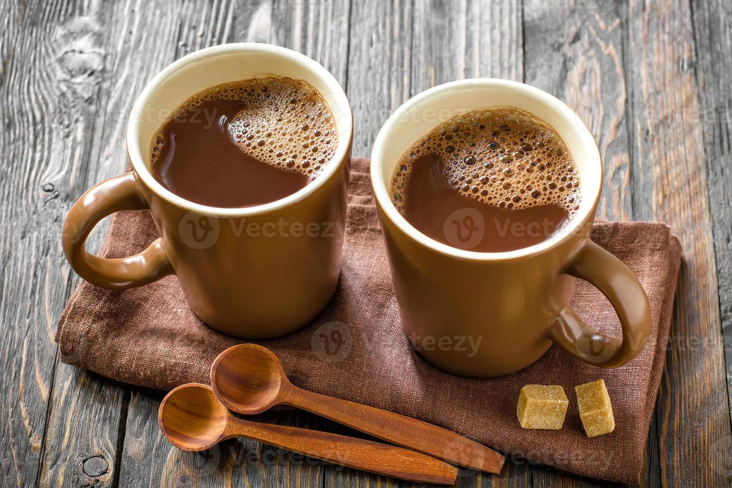 bebida de cacao caliente foto